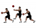 Medicine Ball Walk, Throw, Lunge, and Catch