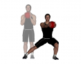 Medicine Ball Forward Reach Lateral Lunge