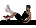 Medicine Ball Lying Knee Extesions