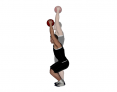 Medicine Ball Overhead Squat