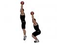 Medicine Ball Overhead Squat Jump