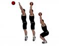 Medicine Ball Overhead Squat Jump Toss