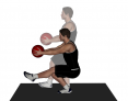 Medicine Ball Pistol Squat