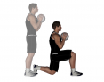 Medicine Ball Forward Lunge