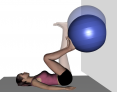 Prone Ball Heel Push Up Against Wall