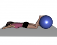 Prone Ball Press Down with Foot