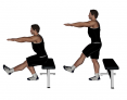 Standing Single-Leg Body Weight Bench Squat