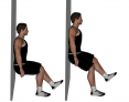 Single Leg Wall Slide to Squat