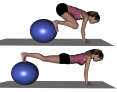 Stability Ball Prone Advanced Knee Tuck