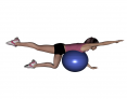 Stability Ball Same Side Arm and Leg Lifts (Beginner)
