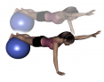 Stability Ball Prone Alternating Arm Lifts with Ball under Shins