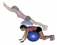 Stability Ball Prone Diagonal Superman