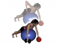 Stability Ball Prone One-Arm Dumbbell Row with Challenge