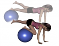 Stability Ball Intermediate Prone One-Leg Plank and Tuck