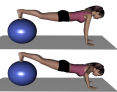 Stability Ball Prone Advanced Ball Walk-out with Push-up