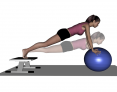 Stability Ball Prone Advanced Pushups