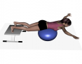 Stability Ball Prone Airplane