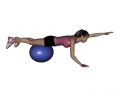 Stability Ball Prone Alternating Arm Lifts with Ball under Thighs