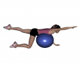 Stability Ball Prone Alternating Bird Dog with Ball on Trunk