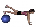 Stability Ball Prone Alternate Leg Lifts with Ball under Toes