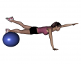 Stability Ball Same Side Arm and Leg Lifts (Advanced)