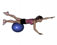 Stability Ball Same Side Arm and Leg Lifts (Intermediate)