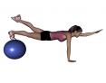 Stability Ball Same Side Arm and Leg Lifts (Super Advanced)