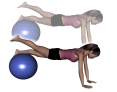 Stability Ball Prone Alternating Leg Lifts with Ball under Shins