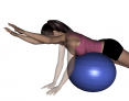 Stability Ball Prone Bilateral Shoulder Flexion