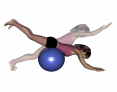 Stability Ball Prone Front-to-Back Rocking