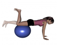 Stability Ball Prone Hamstring Curl