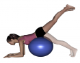 Stability Ball Prone Hip Extension