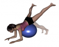 Stability Ball Prone Hip Extension with Abduction