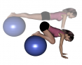 Stability Ball Prone Knee Tuck