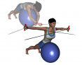Stability Ball Prone Bilateral Low to High Tubing Reverse Fly