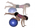 Stability Ball Prone One-Leg Plank and Tuck
