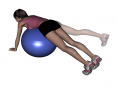 Stability Ball Prone Unilateral Leg Abduction