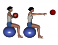 Stability Ball Seated Bilateral Medicine Ball Chest Pass