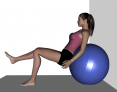 Stability Ball Single Leg Sit and Press Against Wall