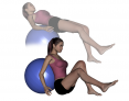 Stability Ball Single Leg Sit to Supine