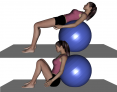 Stability Ball Sit to Prone Lying