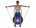 Stability Ball Sitting Bilateral Tubing Lateral Raise