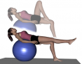 Stability Ball Table Knee Tuck