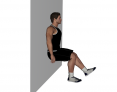 Static Single Leg Wall Squat