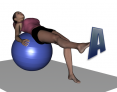 Stability Ball Table Knee Extension - Alphabet Write