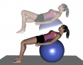 Stability Ball Table to Knee Lift