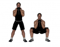 Dumbbell Wide-Stance Goblet Squat