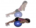 Stability Ball Prone Straight Leg Back Extension